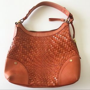 Cole Haan Genevieve Leather Weave Small Hobo Bag
